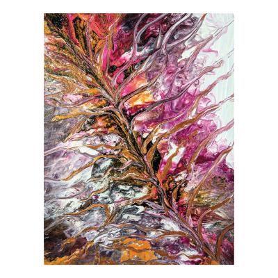 Poszter, absztrakt, keret nélkül, 30x40 cm, rózsaszín - GOWAN
